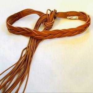 KORs Michael Kors Braided Belt W/ Long Tie Fringes